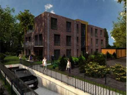 **Erstbezug** Gehobener Neubau in Hemmoor Zentrum, 3 Zimmer, TG, Balkon, KFW 55