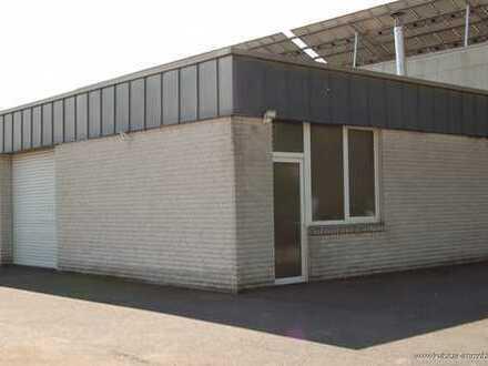 ca. 100 qm beheizte Lagerhalle inkl. Büro mit eigenem Eingang und Rolltor !