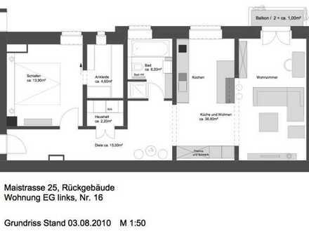 Schöne, geräumige zwei Zimmer Wohnung in München, Ludwigsvorstadt-Isarvorstadt