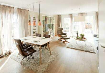 Jetzt Musterhaus besichtigen: Großes Reiheneckhaus mit wunderschönem Südgarten und Dachterrasse!!