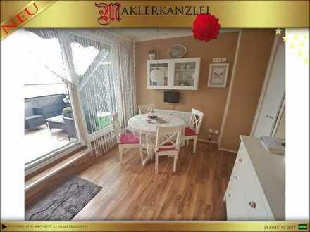 +++ NEU +++ 65m² Dachgeschosswohnung + 10 m² Dach-/Sonnenterrasse und Garage für kleines Geld