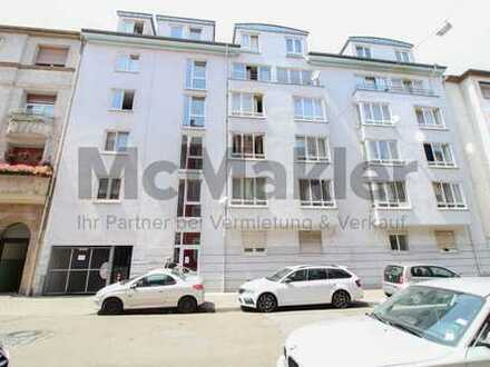 Toplage in Mannheim: Vermietetes 1-Zi.-Apartment mit TG-Stellplatz, zentral in Neckarstadt-West