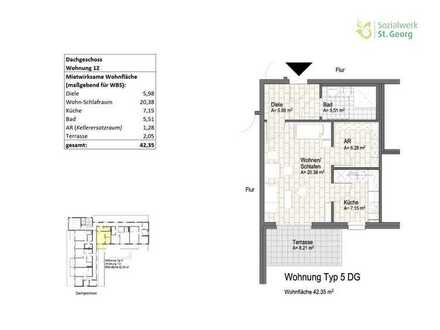 Neubauwohnung im Wohnquartier Davert (WBS) Whg. 12