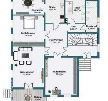 Exklusive 4 Zimmer Wohnung in Radebeul Ost