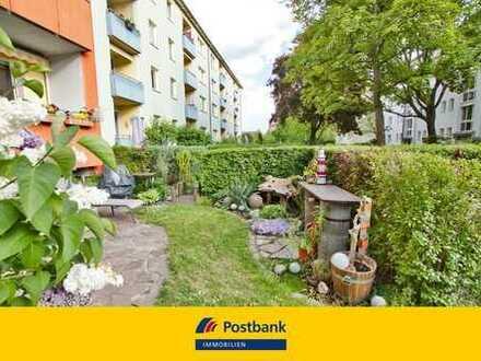 Kurzfristig bezugsfrei: Moderne und gepflegte Wohnung mit eigenem Garten.