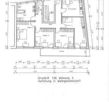 Neubau-Wohnung für 4-er WG , großer Sonnenbalkon , 2 Bäder, Fußbodenheizung