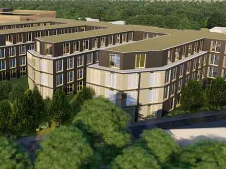 Möglicher Neubau von 2 Bürogebäuden mit ca. 10.800 m2 und ca. 6.200 m2 vermietbarer Fläche