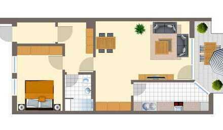Sehr schöne 2-Zimmerwohnung im Zentrum von Garching! Frisch renoviert und vollmöbliert!