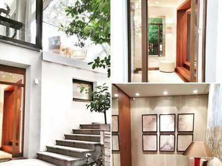 Zweistöckiges Deluxe-Apartment mit Garten