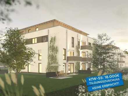 Traumhafte Maisonette-Wohnung mit Dachterrasse am Park, 5½ Zimmer, KfW-55