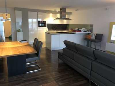 Neuwertige exklusive teilmöblierte 3,5-Zimmer-Wohnung mit EBK und Balkon in Frankfurt am Main