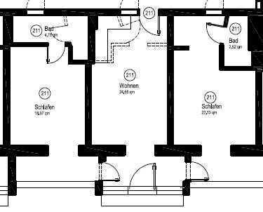 Schöne Drei Zimmer Wohnung, gut geeignet für Zweier WG