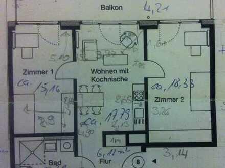 Traum-WG-Zimmer in Münster mit Balkon - Ruhigem Mitbewohner - Zwischenmiete bis Ende April oder Mai