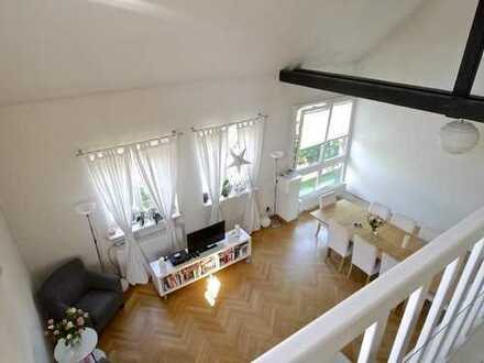 Frei werdende 114 m² Galeriewohnung in denkmalgeschützter Hofanlage * Garage