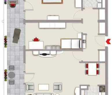 Exklusive, vollständig renovierte 3-Zimmer-Wohnung mit großen Balkon und Einbauküche in Freising