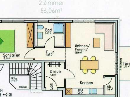 Neuwertige 2-Zimmer-Erdgeschosswohnung mit Terrasse und Einbauküche in Stuttgart-Uhlbach