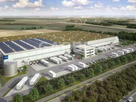 Direkt vom Eigentümer, provisionsfrei, ca. 23.000 m² Neubau-Logistikfläche, 24/7, WGK möglich