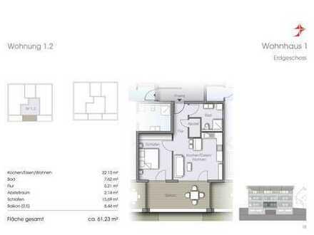 Modernes Appartment & offener Küche mit Balkon - unverbaubarer Blick ins Grüne