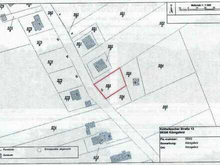 Baugrundstück in idyllischer Lage in 09306 Königsfeld