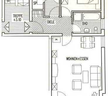 Gepflegte, ruhige 2-Zimmer-Wohnung mit Balkon und Einbauküche in Dormettingen