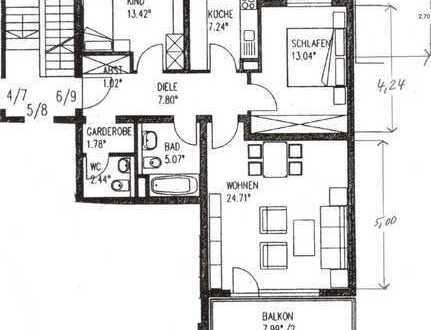 gepflegte 3-Zimmer-Wohnung mit Süd-Balkon in ruhiger Olchinger Lage