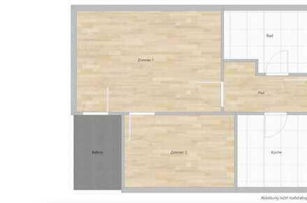 Schöne 2 Zimmer Wohnung mit Balkon und Küche