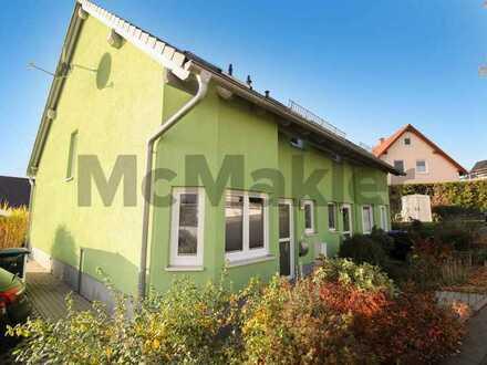 Grün und gut angebunden in Chemnitz: Gepflegte DHH mit schönem Garten, Terrasse & 2 Pkw-Stellplätzen