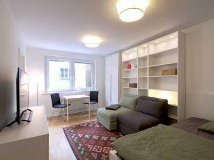 Businessapartment, neuwertige 1-Zimmer-Wohnung mit Einbauküche in Stuttgart Mitte