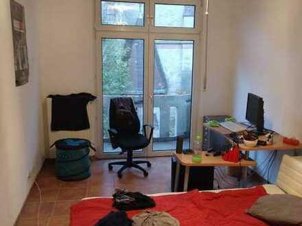 Großes Zimmer in 2er WG mit Wohnzimmer, Balkon und Blick auf den Neckar