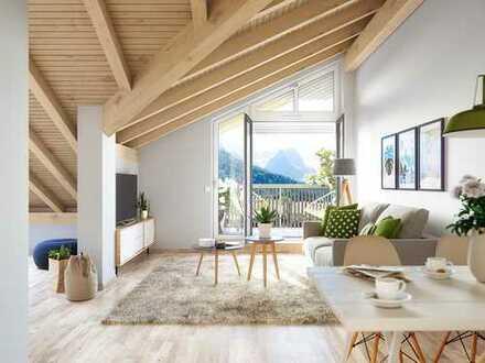 Gemütliche 2-Zimmer-Dachgeschosswohnung mit Balkon in Garmisch-Partenkirchen