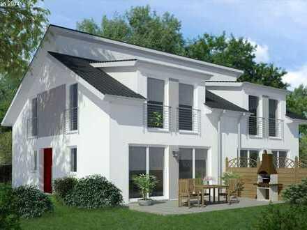 Schlüsselfertige Doppelhaushälfte mit Doppelpultdach! Individuell planbar auch mit Keller möglich!