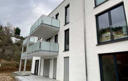 Schicke 2 ZKB in Birkenau mit großem Balkon, TG-Platz und Aufzug, bodenebene Dusche und Parkett