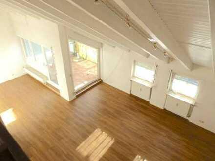 Die schöne 3,5 Maisonette-Wohnung mit Dachterrasse