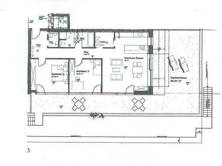 Hochwertige 3-Zimmer-Wohnung mit Dachterrasse ca. 1,5 km östlich von Memmingen