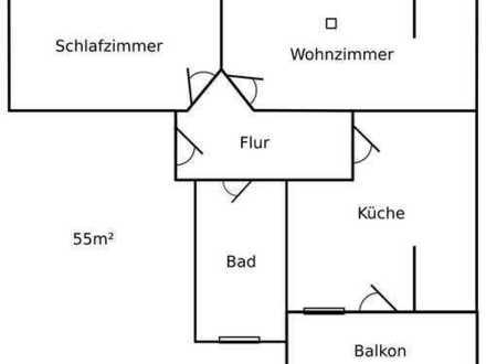 Bild_Helle 2-Zimmer-DG-Wohnung + Balkon + Gartenparzelle + möbliert möglich
