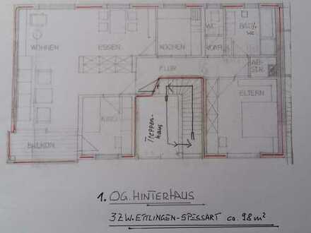 Gepflegte 3-Zimmer-Wohnung mit Balkon in Ettlingen-Spessart