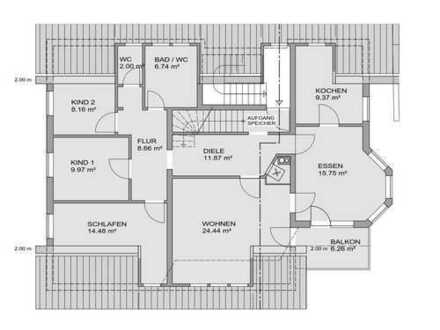 5+1 Zimmer Wohnung mit Kamin, Loggia und einem Fernblick, Provisionsfrei