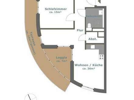 Hier entsteht eine Super-Staffelgeschoss-Wohnung mit großer Wirkung.