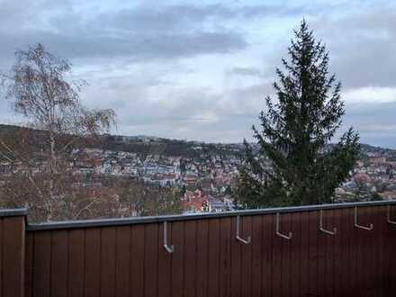 Modernisierte 3,5-Zimmer-EG-Wohnung mit Dachbalkon in Tübingen, sehr gute Lage mit schöner Aussicht