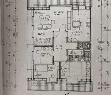 Attraktive DG-Wohnung mit vier Zimmern