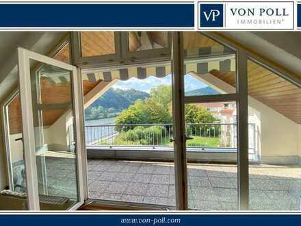 Helle Dachgeschosswohnung mit Neckarblick und Dachterrassen