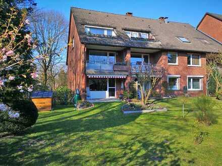 Schöne Wohnung über zwei Ebenen mit eigenem Garten in ruhiger Wohnlage
