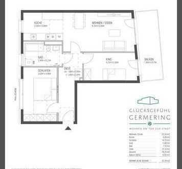 Erstbezug: exklusive 3-Zimmer-Wohnung mit Balkon in Germering