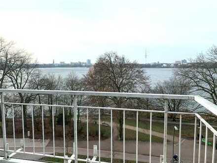 Super Lage. Mit Balkon direkt zur Alster. Für 1 Jahr. Ab sofort.