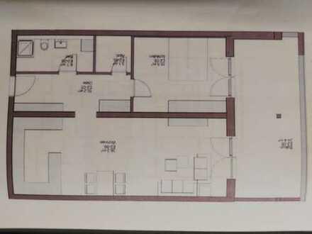 Geräumige moderne 2-Zimmer-Wohnung mit überdachtem Balkon und Einbauküche in Friedrichshafen