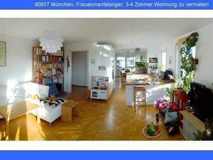Sehr helle, großzügige 3- (4) Zimmer-Wohnung zu vermieten