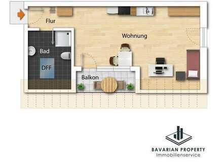 Neubau! Apartment mit Balkon in Sünching