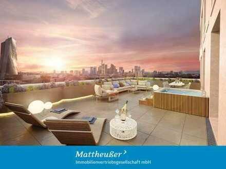 Urbane 3-Zi.-Wohnung mit Terrasse, Loggia, Balkon & Skylineblick in Toplage