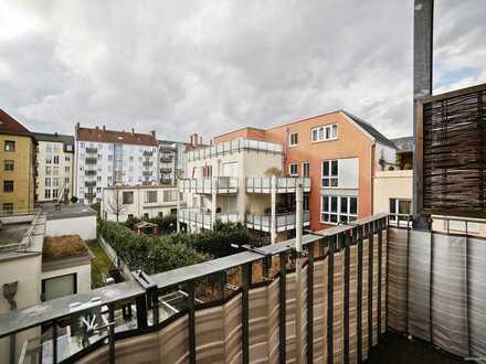 2-Zimmer-Altbauwohnung mit offener Raumgestaltung an der Schwanthalerhöhe mit Balkon & Kaminofen!