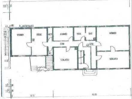 Großzügige 5,5 ZKB Wohnung ca. 232 m² Wohn- und Nutzfl. Evtl. auch zwei Wohnungen möglich